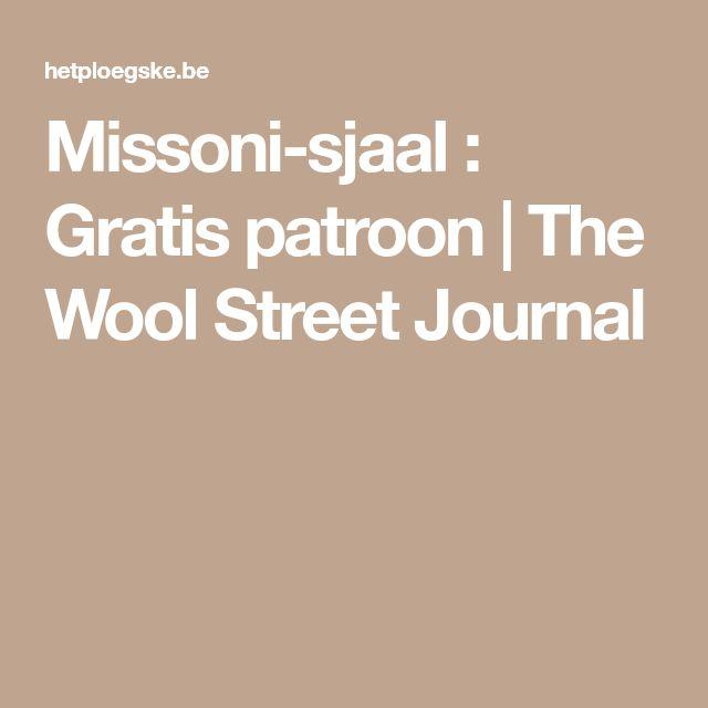 Missoni-sjaal : Gratis patroon | The Wool Street Journal