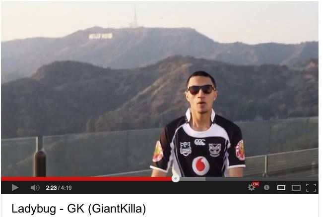 NZ recording artist GiantKilla representing the Warriors in his music video 'Ladybug' shot in Hollywood, California #WarriorsWorld