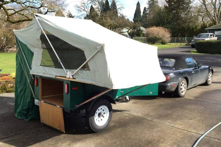 Just reconnected with this Explorer Box I built in 2010. Yes, Steven the current owner tows it with a Mazda Miata. As expected, it is holding up very well. This one was built using marine grade Okoume plywood so it is very light and the exterior was sealed in Durabak.
