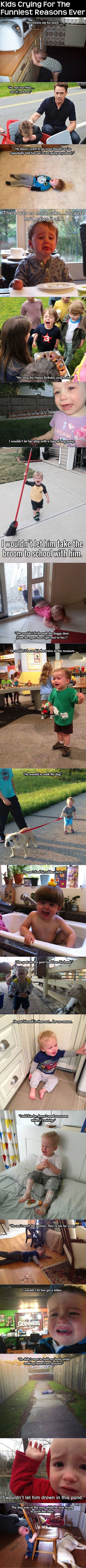 Kids Crying For The Funniest Reasons Ever funny kids parents lol children humor funny pictures funny kids hysterical funny images why my kid is crying: