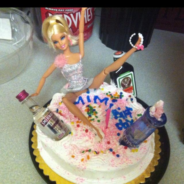 Drunken Barbie Cake.... I Think We Will Keep This In Mind