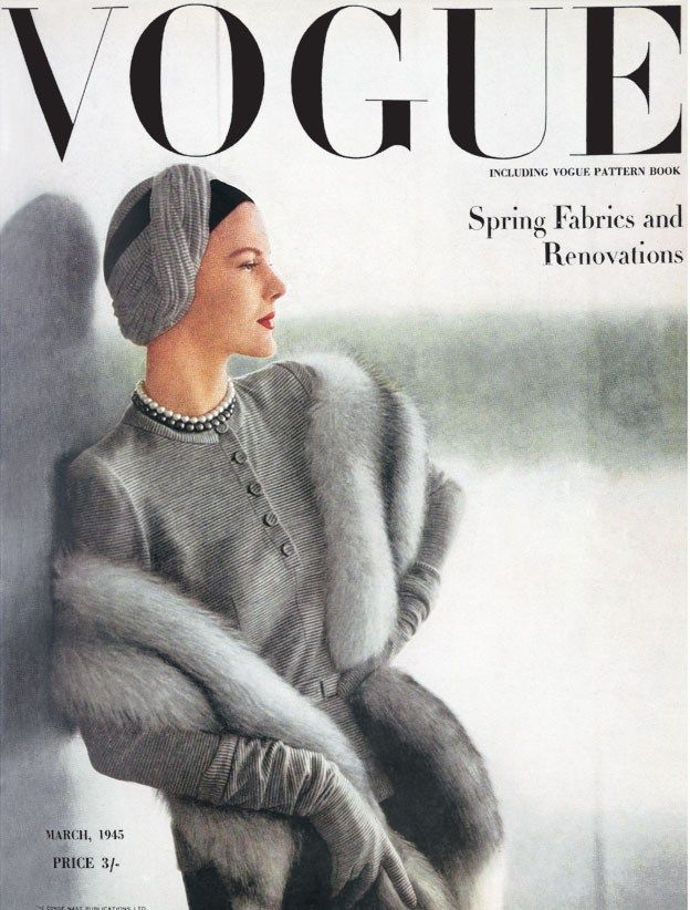March 1945 - I was born in the wrong era - this is soooo elegant. These two-toned pearls are wonderful!