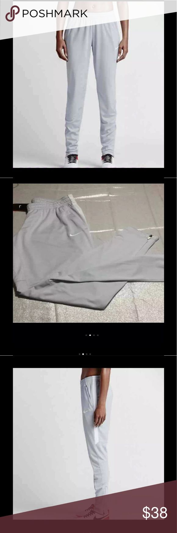 MEDIUM NIKE DRI FIT SOCCER PANTS NWT Nike Dri Fit Soccer Pants, Size Medium, NWT, Zippered Bottoms, Zippered Pockets, Color Pure Platinum  PRICE FIRM Nike Pants Track Pants & Joggers