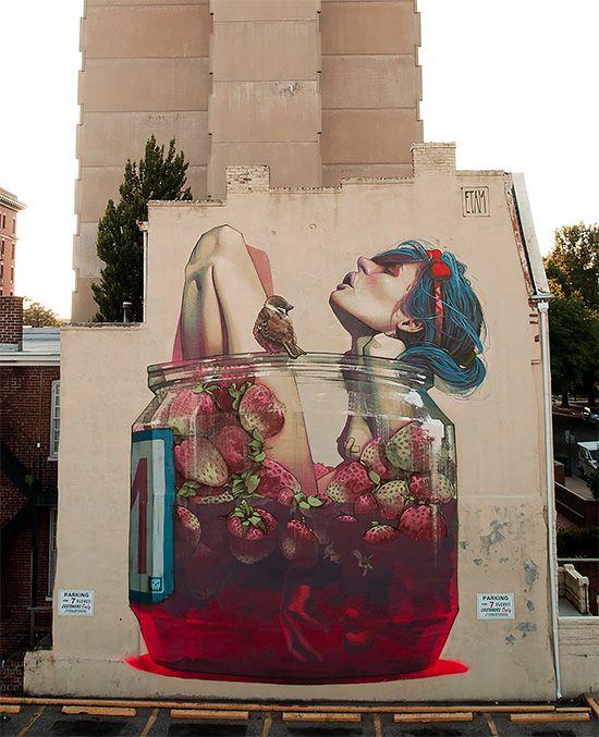 Amazing Street Art by Etam Cru | Inspiration Grid | Design Inspiration. RVA!! This master piece is just a few blocks away from my apartment. Gotta love Virginia's capital!