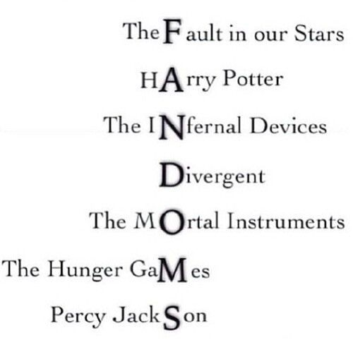FANDOMS. I support them all!