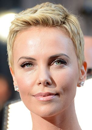 how to cut charlize theron short haircut