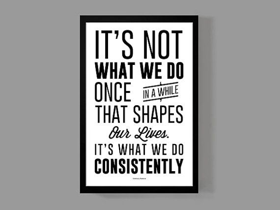 It's what we do consistently - Quote Poster - Anthony Robbins - Motivational, Inspirational, Encouragement, Life on Etsy, $16.00