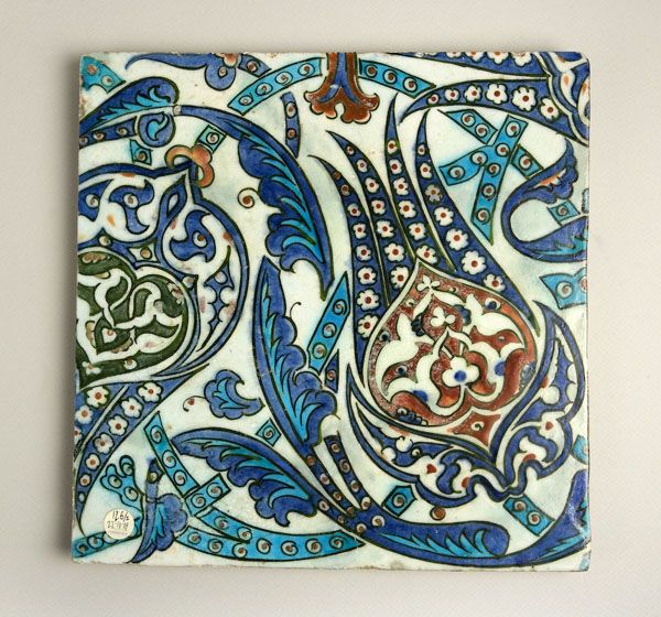 "Pair of Diyarbekir Tiles - ADC.79 Origin: Diyarbekir, Turkey Circa: 16 th Century AD Dimensions: 12.68"" (32.2cm) high x 12.64"" (32.1cm) w..."