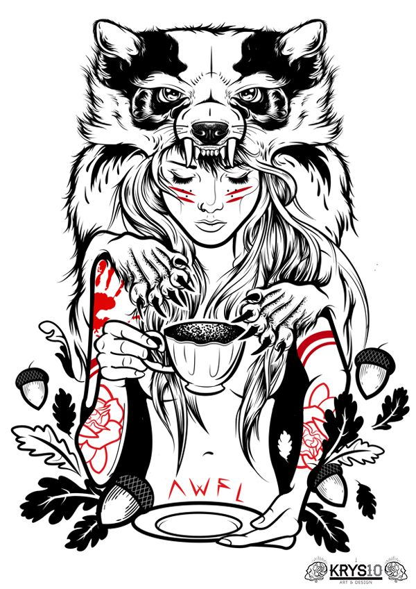 'Awfully Good Apparel' by Krysten Newby, via Behance