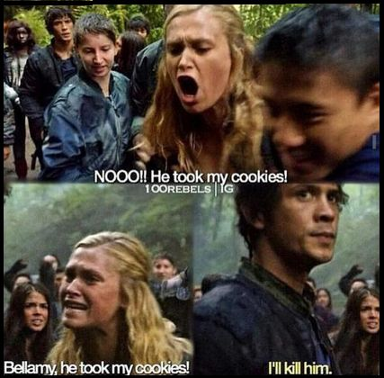 Bellamy's face lol || The 100 Humor || Bellamy Blake and Clarke Griffin || Eliza Jane Taylor and Bob Morley || Bellarke