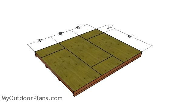 Floor Sheets Shed Plans Flat Roof Shed Shed