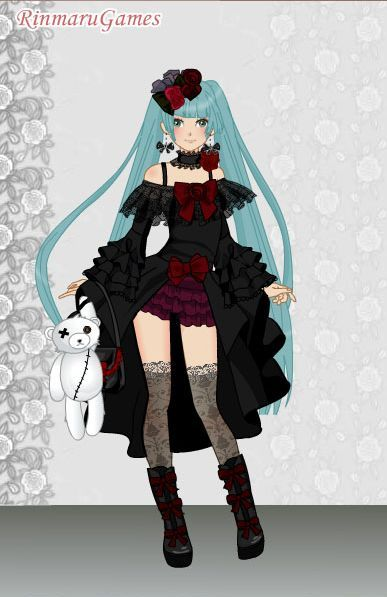 Black dress up games vocaloid
