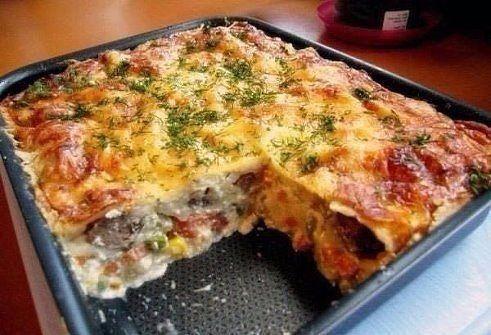 Лучшие рецепты.: Запеканка с курицей и овощами