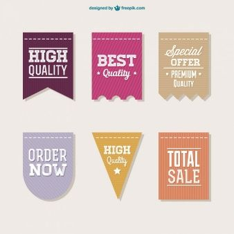 Vector sale labels collection