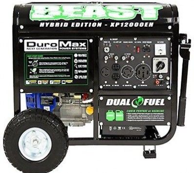 duromax 18 hp portable electric start hybrid generator wheel kit carb the home depot