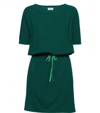 groene jurk met korte mouw Nümph