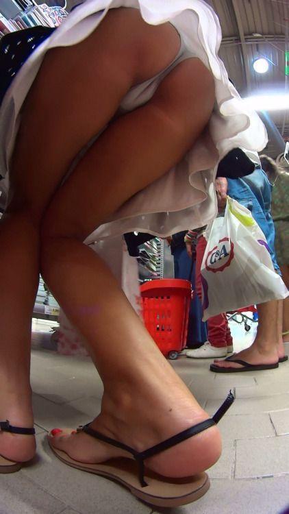 Hot Upskirt Photo In A Shop