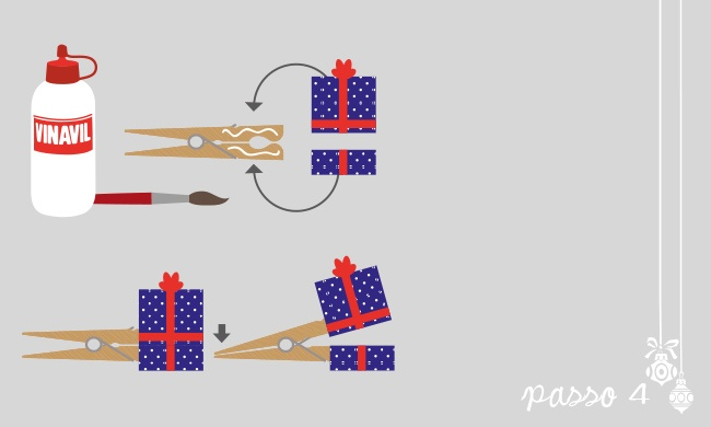 Tutorial di Natale: riciclare le mollette - esseredonnaonline