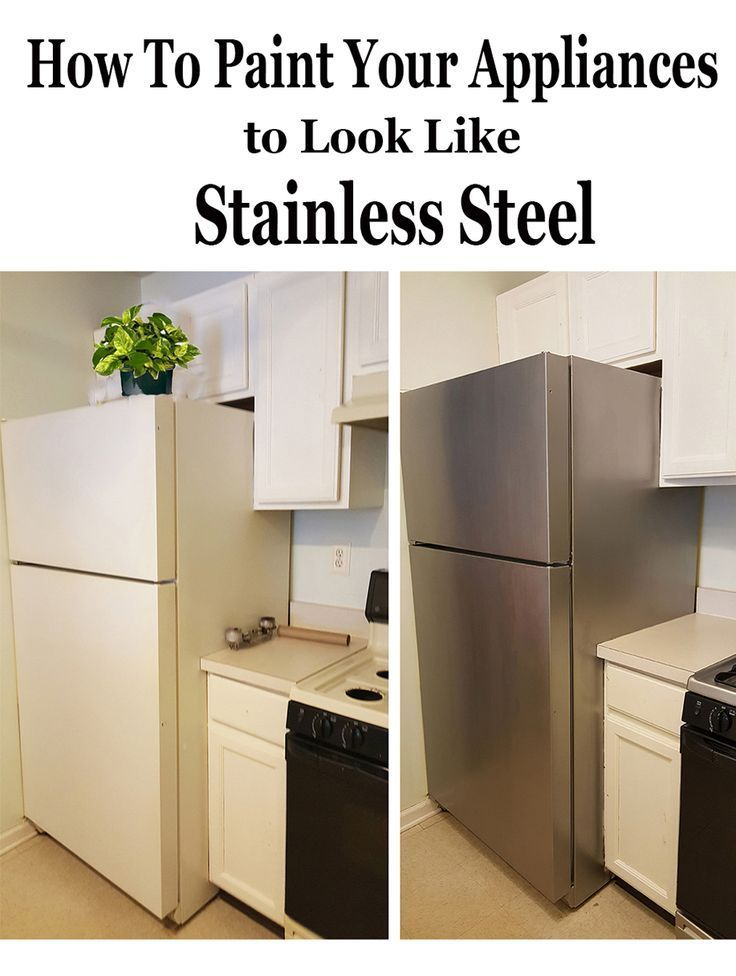 How To Paint Appliances Stainless Steel The Honeycomb Home In 2020 Painting Appliances Outdoor Kitchen Appliances Appliances