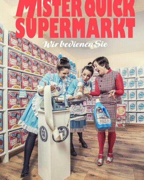 Mister Quick Markt #art #popart #supermarket #vintage #60s #handmade #illustrator #cornflakes #harvey_quick #mister_quick_markt