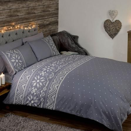 Nordic Grey Duvet Cover and Pillowcase Set