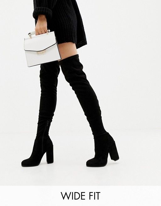 99f6dd7f0522 ASOS DESIGN Wide Fit Tall Kassidy heeled over the knee boots$79.00