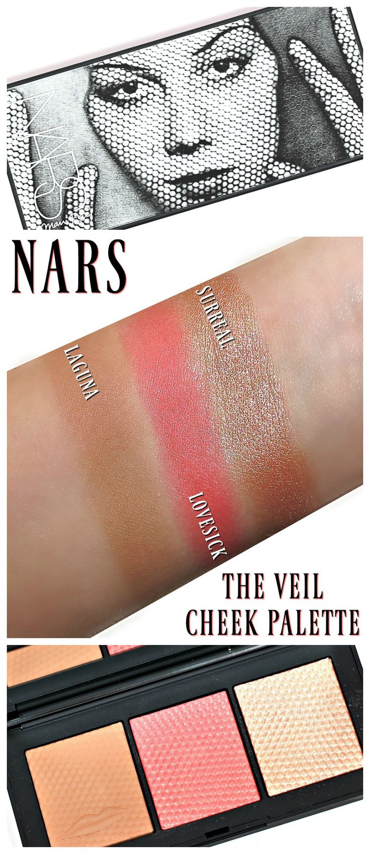 Nars Man Ray Veil Cheek Palette Swatches Review Holiday 2017 Cheek Palette Man Ray Contouring And Highlighting