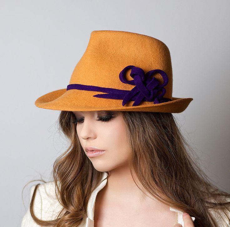 hat, hats, Anna Andrienko, янтарный, купить шляпу, купить фетровую шляпу, купить шляпу из фетра, купить женскую шляпу, купить шляпу с полями, купить желтую шляпу, купить федору, купить шляпу спб, купить шляпу москва, шляпа, фетровая шляпа, шляпа из фетра, желтая шляпа, Анна Андриенко, федора, шляпа федора, женская шляпа, классическая шляпа, весенняя шляпа