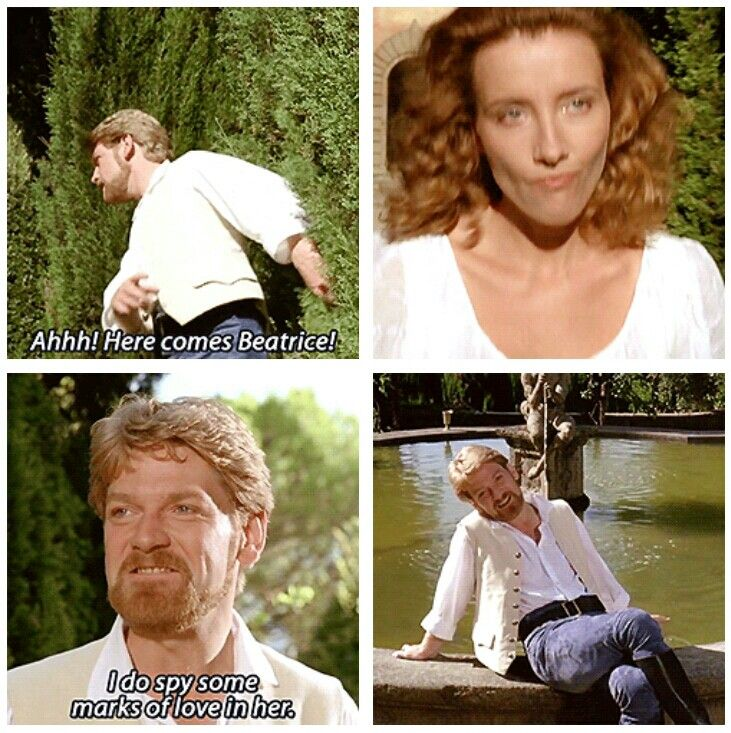 """Much Ado About Nothing: """"I do spy some marks of love in her."""" (gif)"""