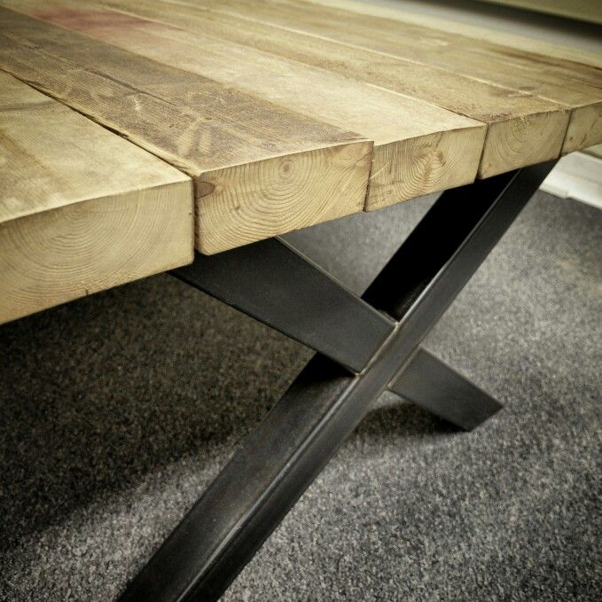 17 best stalen frame houten images on pinterest for Bureau 2 meter