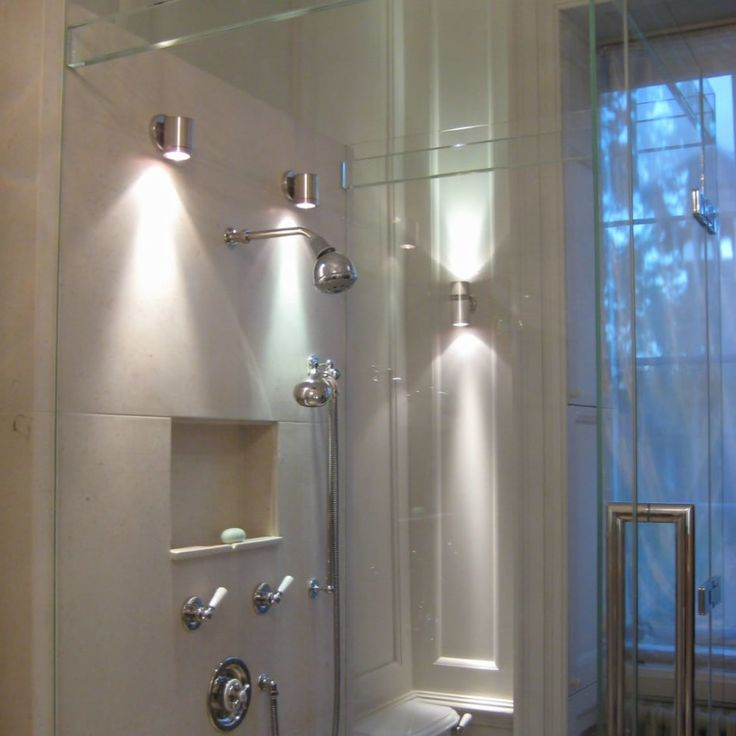 Lighting Ideas, Wall Lights For Bathroom Shower With Brushed Nickel Sconces: Set Your Best Wall