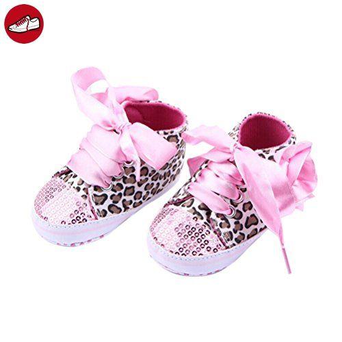 LEORX Paar Von Niedlichen Baby Mädchen Leopard Muster Dekor Prewalkers Schuhe (Rosa) (*Partner-Link)
