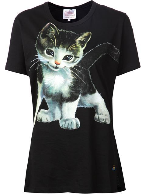 Shop Vivienne Westwood cat T-shirt in Anastasia Boutique from the world's best independent boutiques at farfetch.com. Over 1500 brands from 300 boutiques in one website.