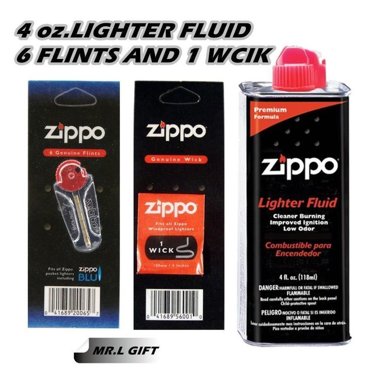 Zippo 4oz Fuel Fluid and 1 Flint & 1 Wick Value pack Combo Each wick is packed in an individual card. Each pack of flints come in a 6 pack Zippo Premi... #value #pack #combo #wick #flint #fuel #fluid #zippo
