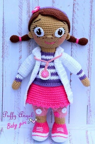Doc McStuffins muñeca crochet patrón
