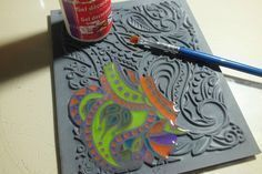Another way to use tinted liquid polymer clay