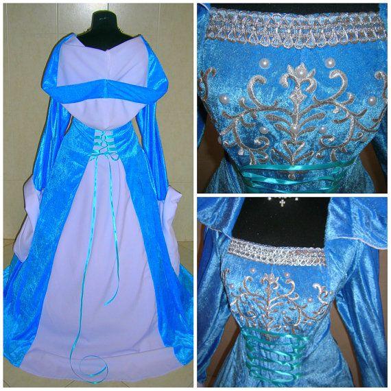 Congelé robe costume Elsa 26-28-30 4XL-5XL-6XL par astrastarl