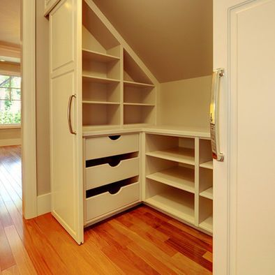 Closet Sloped Ceiling Design, Pictures, Remodel, Decor and Ideas