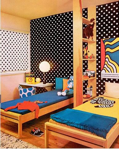 Kids Pop Art Decor With Black And White Wallpapers.