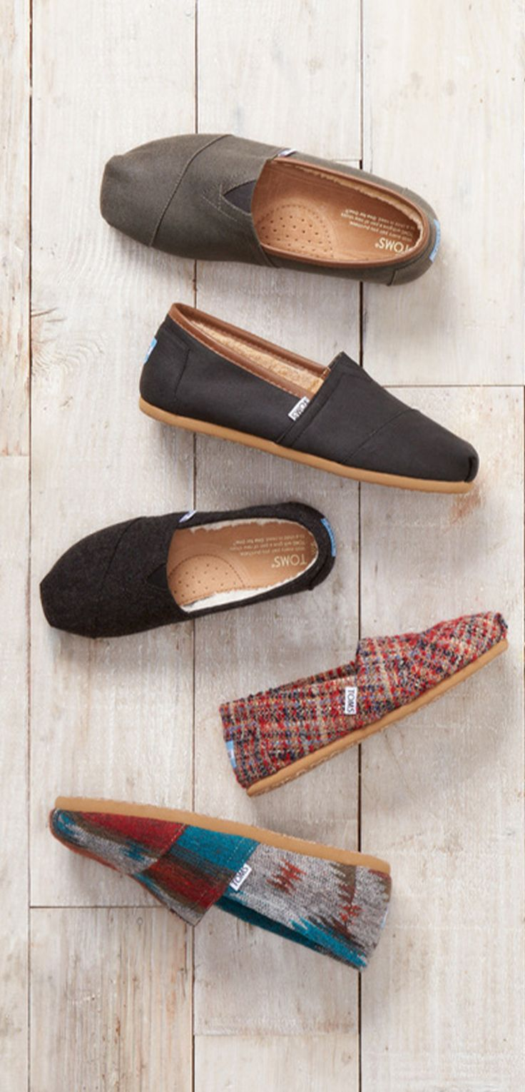 Kick leaves in new fall TOMS Classics.