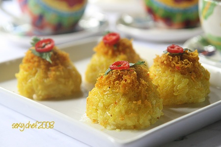 Yellow steamed glutinous rice