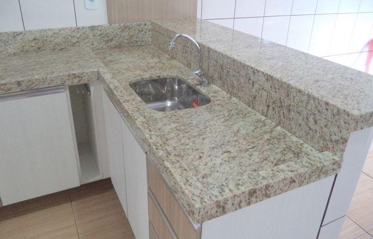 215A–Cozinha planejada granito Amarelo Ornamental