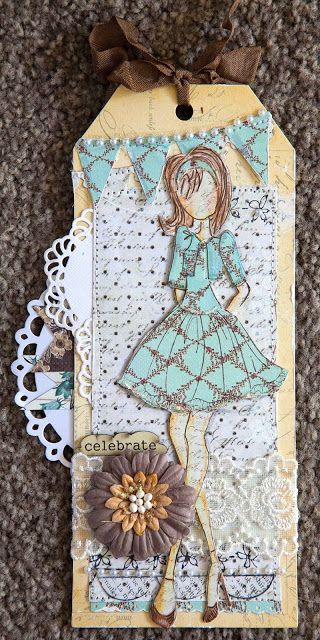 Prima Mixed Media Doll Stamps ...Strapless and Bolero Dolls by Julie Nutting