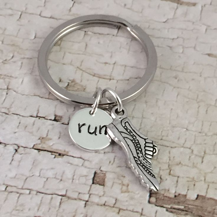Running shoe keychain, running charm, RUN charm, planner charm, marathon runner, 5K, backpack keyring, cross country runner, track and field by PSDPlanner on Etsy https://www.etsy.com/listing/265496937/running-shoe-keychain-running-charm-run