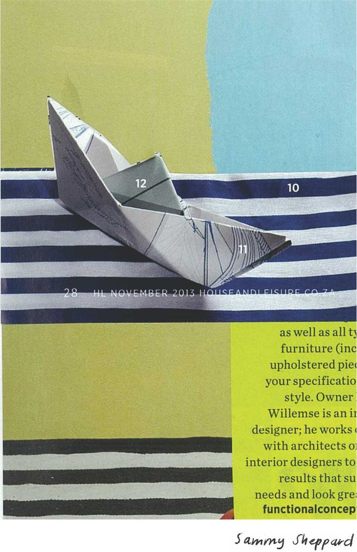 """""""Paper ship"""" by Sammy Sheppard Paper collage."""