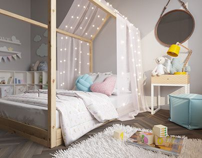 """Check out new work on my @Behance portfolio: """"Visualization. Child room."""" http://be.net/gallery/58163347/Visualization-Child-room"""