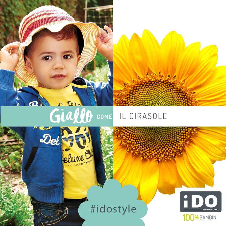 Il giallo è il colore del Girasole #SpringSummer #idokidswear #fashionkids #kidsfashion #PE16 #babyboy