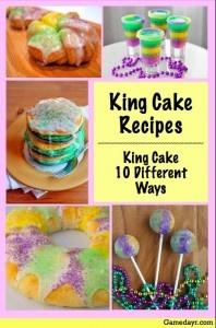 ... King Cake pancakes, King Cake cupcakes, and even King Cake shots