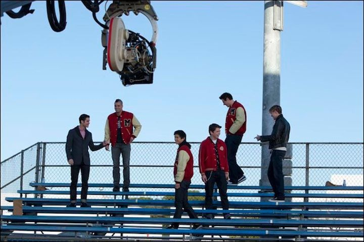"Behind the scenes photo from the ""Yes/No"" episode. Original Air Date 1/17/2012"