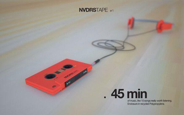 MP3 como un tape antiguo. NVDRS_tape by Stefano Pertegato, via Behance